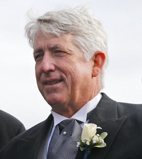 (AP Photo/Steve Helber). FILE-In this Saturday, Jan. 13, 2018 file photo, Virginia Attorney General Mark Herring takes the oath of office during inaugural ceremonies at the Capitol in Richmond, Va. Herring, admitted Wednesday, Feb. 6, 2019, to putting ...