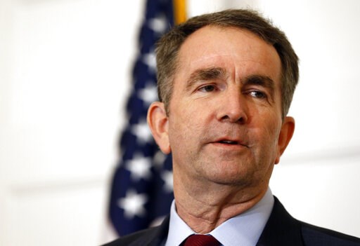 (AP Photo/Steve Helber, File). FILE - In this Feb. 2, 2019 file photo, Virginia Gov. Ralph Northam speaks during a news conference in the Governor's Mansion in Richmond, Va.  Northam clung to his office Tuesday, Feb. 5, amid intense political fallout o...
