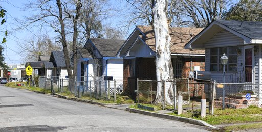 (AP Photo/Julie Bennett). Homes line Richardson Drive in Africatown in Mobile, Ala., on Tuesday, Jan. 29, 2019. The population has suffered greatly in recent years, leaving much of the area in disrepair. Established by the last boatload of Africans abd...