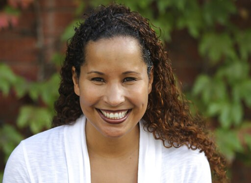 (Scripps College via AP). In this undated photo provided by Scripps College, Vanessa Tyson, an associate professor in politics at Scripps College, poses for a photo. Tyson, a 42-year-old political science professor who studies the intersection of polit...