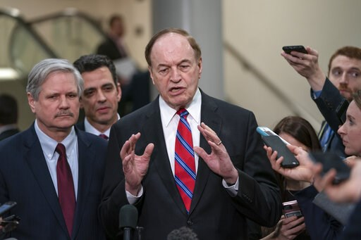 (AP Photo/J. Scott Applewhite). From left, Sen. John Hoeven, R-N.D., Rep. Tom Graves, R-Ga., and Sen. Richard Shelby, R-Ala., the top Republican on the bipartisan group bargainers working to craft a border security compromise in hope of avoiding anothe...