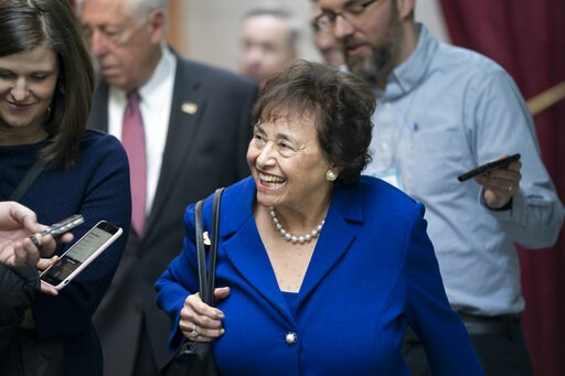 (AP Photo/J. Scott Applewhite). In this Feb. 6, 2019, photo House Appropriations Committee Chair Nita Lowey, D-N.Y., head of the bipartisan group of House and Senate bargainers trying to negotiate a border security compromise in hope of avoiding anothe...