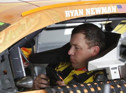 (AP Photo/John Raoux). Ryan Newman prepares to go out on the track for NASCAR auto race practice at Daytona International Speedway, Saturday, Feb. 9, 2019, in Daytona Beach, Fla.