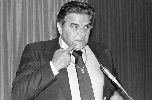 (AP Photo/Pete Leabo, File). FILE - In this June 2, 1978, file photo, Jimmy (The Greek) Snyder, nationally known odds maker and later a sports announcer for CBS, ponders a question asked him during a panel discussion on gambling at The Associated Press...