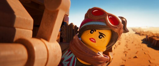 "(Warner Bros. Pictures via AP). This image released by Warner Bros. Pictures shows the character Lucy/Wyldstyle, voiced by Elizabeth Banks, in a scene from ""The Lego Movie 2: The Second Part."""
