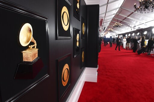 (Photo by Jordan Strauss/Invision/AP). A view of the red carpet appears at the 61st annual Grammy Awards at the Staples Center on Sunday, Feb. 10, 2019, in Los Angeles.