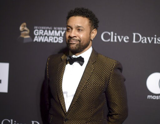 (Photo by Richard Shotwell/Invision/AP). Shaggy arrives at the Pre-Grammy Gala And Salute To Industry Icons at the Beverly Hilton Hotel on Saturday, Feb. 9, 2019, in Beverly Hills, Calif.