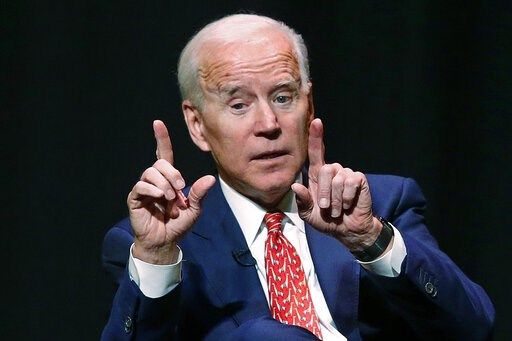 (AP Photo/Rick Bowmer). FILE - In this Dec. 13, 2018 file photo, former Vice President Joe Biden speaks at the University of Utah in Salt Lake City. Biden has been conspicuously absent from early voting states as he weighs a 2020 presidential campaign....