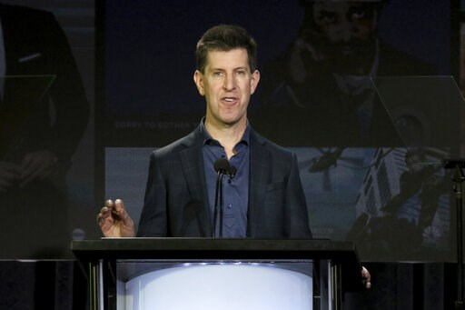 (Photo by Willy Sanjuan/Invision/AP). Senior Vice President of Content of Hulu Craig Erwich speaks at the executive session during the Hulu presentation at the Television Critics Association Winter Press Tour at The Langham Huntington on Monday, Feb. 1...
