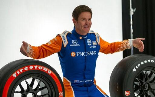 (AP Photo/Stephen Spillman). IndyCar driver Scott Dixon poses for photos during IndyCar auto racing media day, Monday, Feb. 11, 2019, in Austin, Texas.