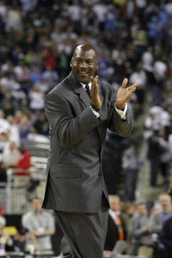 (AP Photo/Paul Sancya, File). File-This April 6, 2009, file photo shows former North Carolina and NBA player Michael Jordan at halftime of the championship game at the men's NCAA Final Four college basketball tournament.  It's well-known that Jordan us...