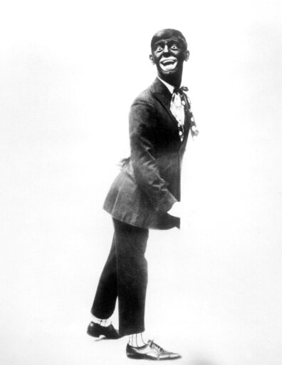 "(AP Photo/File). FILE - This 1920s image shows comedian Eddie Cantor wearing blackface while performing ""If You Knew Susie."" Blackface minstrelsy is considered by some to be the first uniquely American form of entertainment. White men would darken thei..."