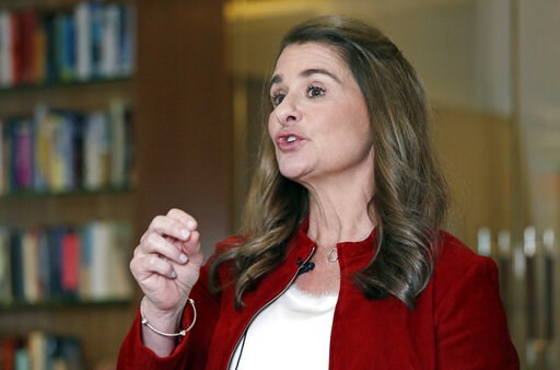 (AP Photo/Elaine Thompson). In this Feb. 1, 2019, Melinda Gates speaks while being interviewed in Kirkland, Wash. Bill and Melinda Gates are pushing back against a new wave of criticism about whether billionaire philanthropy is a force for good. The co...