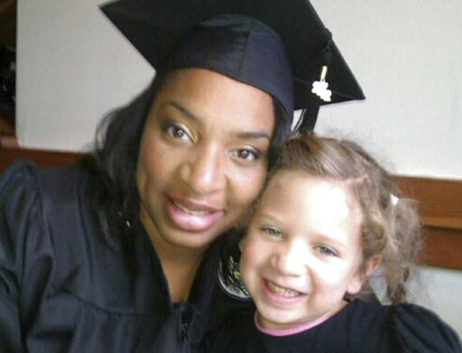 (Amberkatherine DeCory via AP). This undated selfie shows Amberkatherine DeCory with her daughter, Mila DeCory. Until her daughter could speak, Decory, a police officer who lives outside Minneapolis, carried her birth certificate and even a photo of he...