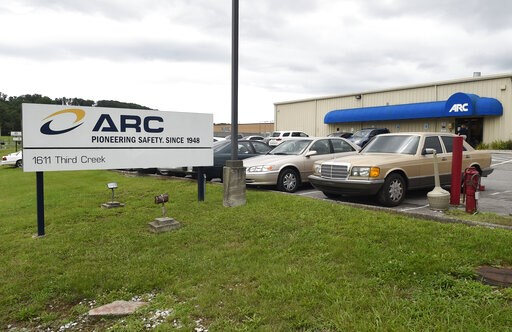 (Adam Lau/Knoxville News Sentinel via AP, File). FILE- This July 14, 2015, file photo shows the ARC Automotive manufacturing plant in Knoxville, Tenn. Nearly four years ago, the U.S. government's highway safety agency began investigating air bag inflat...