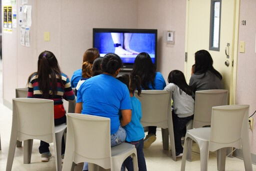 (Charles Reed/U.S. Immigration and Customs Enforcement via AP, File). FILE - This Aug. 9, 2018, file photo, provided by U.S. Immigration and Customs Enforcement, shows a scene from a tour of South Texas Family Residential Center in Dilley, Texas. Month...