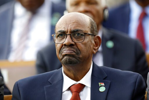 (AP Photo/Burhan Ozbilici, File). FILE - In this July 9, 2018, file photo, Sudan's President Omar al-Bashir attends a ceremony for Turkey's President Recep Tayyip Erdogan, at the Presidential Palace in Ankara, Turkey. Sudan's President has declared a s...