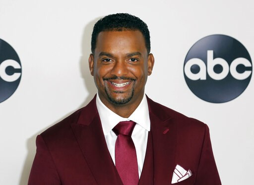 """(Photo by Willy Sanjuan/Invision/AP, File). FILE - In this Aug. 7, 2018 file photo, Alfonso Ribeiro arrives at the Disney/ABC 2018 Television Critics Association Summer Press Tour in Beverly Hills, Calif. """"The Fresh Prince of Bel-Air"""" star Alfonso Ribe..."""