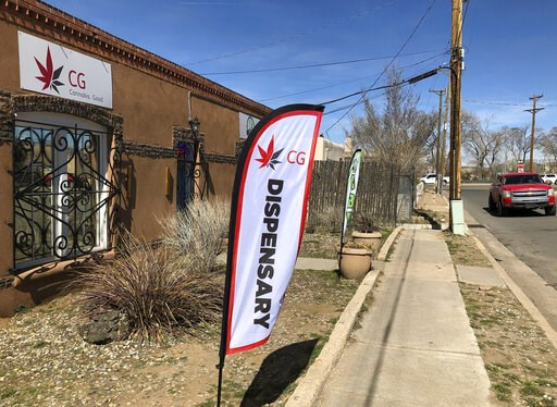 (AP Photo/Morgan Lee). In this Wednesday, March 6, 2019 photo, the exterior of a medical marijuana dispensary is seen in Santa Fe, N.M. New Mexico took a step toward legalizing recreational marijuana when its House approved a bill that would allow stat...