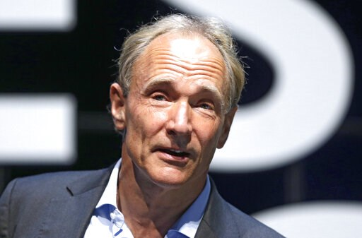(AP Photo/Lionel Cironneau, File). In this Tuesday, June 23, 2015 file photo, English computer scientist Tim Berners-Lee, best known as the inventor of the World Wide Web, attends the Cannes Lions 2015, International Advertising Festival in Cannes, sou...