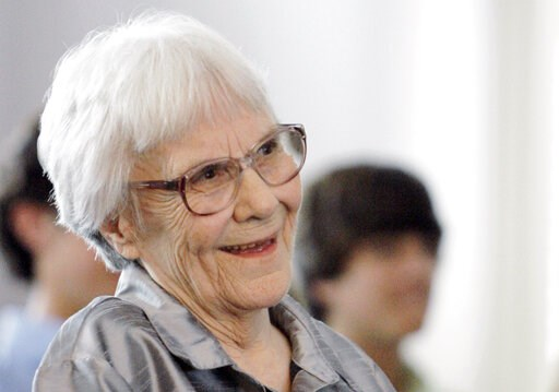 """(AP Photo/Rob Carr, File). FILE - In this Aug. 20, 2007, file photo, """"To Kill A Mockingbird"""" author Harper Lee smiles during a ceremony honoring the four new members of the Alabama Academy of Honor, at the state Capitol in Montgomery, Ala. Lee railed a..."""