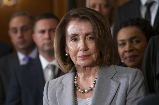 (AP Photo/J. Scott Applewhite). Speaker of the House Nancy Pelosi, D-Calif., is joined by fellow Democrats to introduce an immigration reform bill providing permanent legal protections and a path to citizenship for so-called Dreamers, undocumented immi...