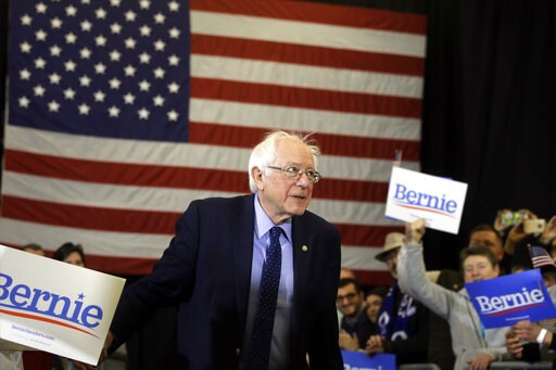 (AP Photo/Steven Senne). In this March 10, 2019, photo, 2020 Democratic presidential candidate Sen. Bernie Sanders, I-Vt., arrives to speak in Concord, N.H. South Carolina gave Sanders the cold shoulder in 2016. Four years and several visits later, San...