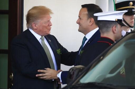 (AP Photo/Manuel Balce Ceneta). President Donald Trump welcomes Irish Prime Minister Leo Varadkar at the White House in Washington, Thursday, March 14, 2019.