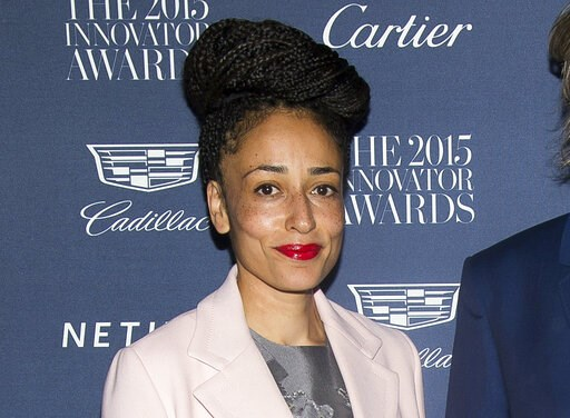 "(Photo by Charles Sykes/Invision/AP, File). FILE - This Nov. 4, 2015 file photo shows Zadie Smith at the WSJ Magazine Innovator Awards in New York. Smith won the  the National Book Critics Circle criticism prize for her essay collection ""Feel Free."""
