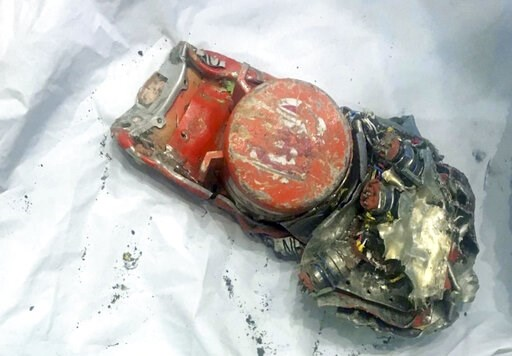 (BEA via AP). This photo provided by by the French air accident investigation authority BEA on Thursday, March 14, 2019, shows one of the black box flight recorder from the crashed Ethiopian Airlines jet, in le Bourget, north of Paris. The French air a...