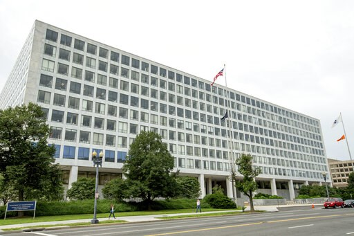 (AP Photo/Andrew Harnik, File). FILE - This Friday, June 19, 2015 file photo shows the Department of Transportation Federal Aviation Administration building, in Washington. For more than six decades, the Federal Aviation Administration has relied on em...