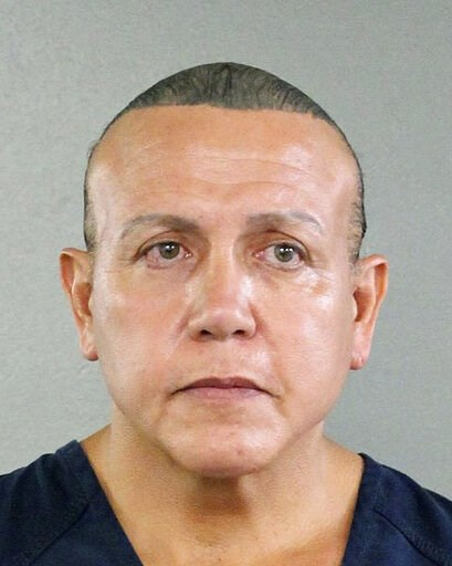 (Broward County Sheriff's Office via AP, File). FILE - This Aug. 30, 2015, file photo released by the Broward County Sheriff's office shows Cesar Sayoc in Miami. Sayoc, who is charged with sending pipe bombs to prominent critics of President Donald Tru...