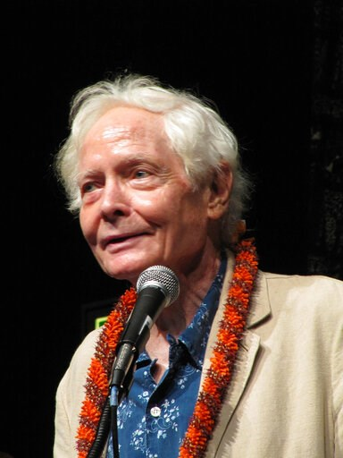 (AP Photo/Audrey McAvoy, File). FILE - In this Aug. 2, 2011 file photo, poet W.S. Merwin speaks to the Hawaii Conservation Conference in Honolulu. Merwin, a prolific and versatile master of modern poetry who evolved through a wide range of styles as he...