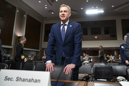 (AP Photo/J. Scott Applewhite). In this March 14, 2019, photo, acting Defense Secretary Patrick Shanahan goes before the Senate Armed Services Committee to discuss the Department of Defense budget, on Capitol Hill in Washington. To a remarkable degree,...