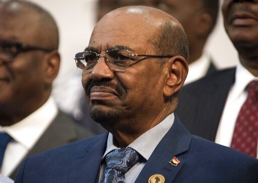 (AP Photo/Shiraaz Mohamed, File). FILE - This June 14, 2015 file photo, shows Sudanese President Omar al-Bashir during a visit to Johannesburg, South Africa. On Sunday, March 17, 2019, hundreds of Sudanese took part in anti-government protests in the c...