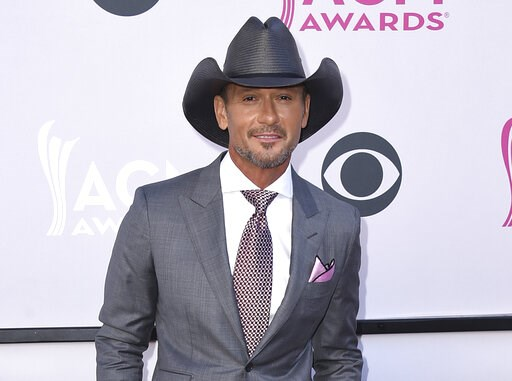(Photo by Jordan Strauss/Invision/AP, File). FILE - This April 2, 2017 file photo shows Tim McGraw at the 52nd annual Academy of Country Music Awards in Las Vegas. The NFL announced Monday that Grammy-winning country star Tim McGraw will perform a free...