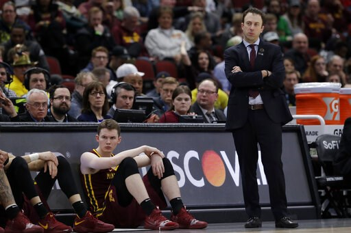 (AP Photo/Nam Y. Huh). Minnesota head coach Richard Pitino watches during the second half of an NCAA college basketball game against Michigan in the semifinals of the Big Ten Conference tournament, Saturday, March 16, 2019, in Chicago.