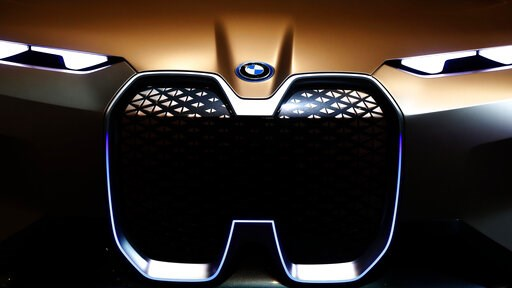 (AP Photo/Matthias Schrader). A BMWi car is pictured during the earnings press conference in Munich, Germany, Wednesday, March 20, 2019.
