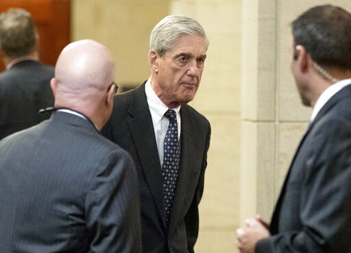 (AP Photo/Andrew Harnik, File). FILE - In this June 21, 2017 file photo, former FBI Director Robert Mueller, the special counsel probing Russian interference in the 2016 election, arrives on Capitol Hill for a closed door meeting before the Senate Judi...
