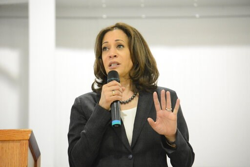 (AP Photo/Meg Kinnard). Sen. Kamala Harris, D-Calif., speaks during an event in St. George, S.C., on Saturday, March 9, 2019. Harris is spending two days in South Carolina, home of the first southern presidential primary in 2020, spending time with vot...