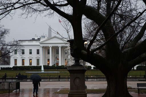 (AP Photo/Evan Vucci). A view of the White House, Thursday, March 21, 2019, in Washington.