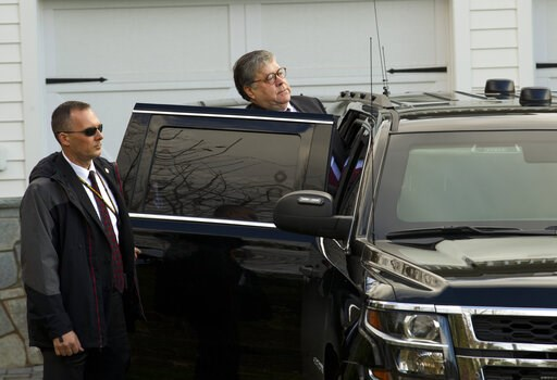 (AP Photo Jose Luis Magana). Attorney General William Barr leaves his home 916b2b2ddc22