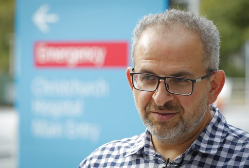 (AP Photo/Vincent Thian). In this Thursday, March 21, 2019, photo, Dr. Adib Khanfer, surgeon of hospital Christchurch speaks during an interview with The Associated Press in Christchurch, New Zealand. Khanafer says he was in shock last Friday when he w...
