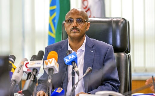 (AP Photo/Mulugeta Ayene). Ethiopian Airlines CEO Tewolde Gebremariam holds a press briefing at the headquarters of Ethiopian Airlines in Addis Ababa, Ethiopia, Sunday, March 10, 2019. An Ethiopian Airlines flight crashed shortly after takeoff from Eth...