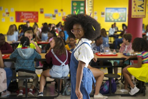 "(Universal Pictures via AP). This image released by Universal Pictures shows Marsai Martin in a scene from ""Little."""