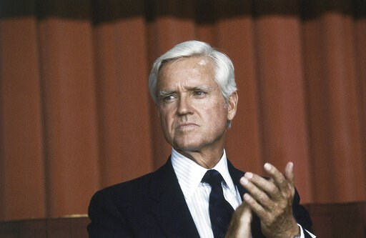 (AP Photo, File). FILE - This July 20, 1983 file photo shows Senator Ernest F. Hollings (D-S.C.) in Washingrton D. C. Hollings, a moderate six-term Democrat who made an unsuccessful bid for the presidency in 1984, has died. He was 97. Family spokesman ...