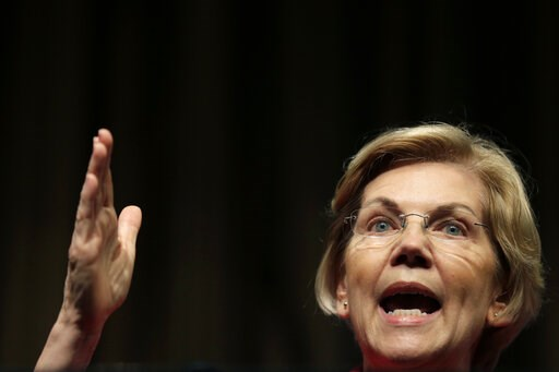 (AP Photo/Seth Wenig). U.S. Sen. Elizabeth Warren, D-Mass., a candidate for the 2020 Democratic presidential nomination, speaks during the National Action Network Convention in New York, Friday, April 5, 2019.