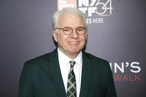 "(Photo by Charles Sykes/Invision/AP, File). FILE - This Oct. 14, 2016 file photo shows Steve Martin at the world premiere of ""Billy Lynn's Long Halftime Walk"", during the 54th New York Film Festival in New York. Celadon Books announced Monday that Mart..."