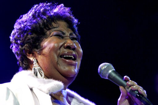 (AP Photo/Shea Walsh, File). FILE - In this Nov. 21, 2008 file photo, Aretha Franklin performs at the House of Blues in Los Angeles. Franklin is still getting R.E.S.P.E.C.T. after death: The Queen of Soul received the Pulitzer Prize Special Citation ho...