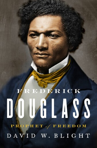 "(Simon & Schuster via AP). This cover image released by Simon & Schuster shows ""Frederick Douglass: Prophet of Freedom,"" by David W. Blight, winner of the Pulitzer Prize for History."